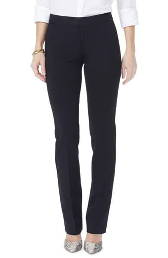 NYDJ Womens Petite Size Michelle Trousers in Ponte Knit