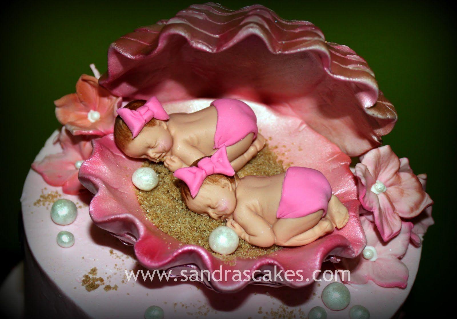 Cute Baby Girl Shower Cakes Twin Girls Baby Shower Cake Baby