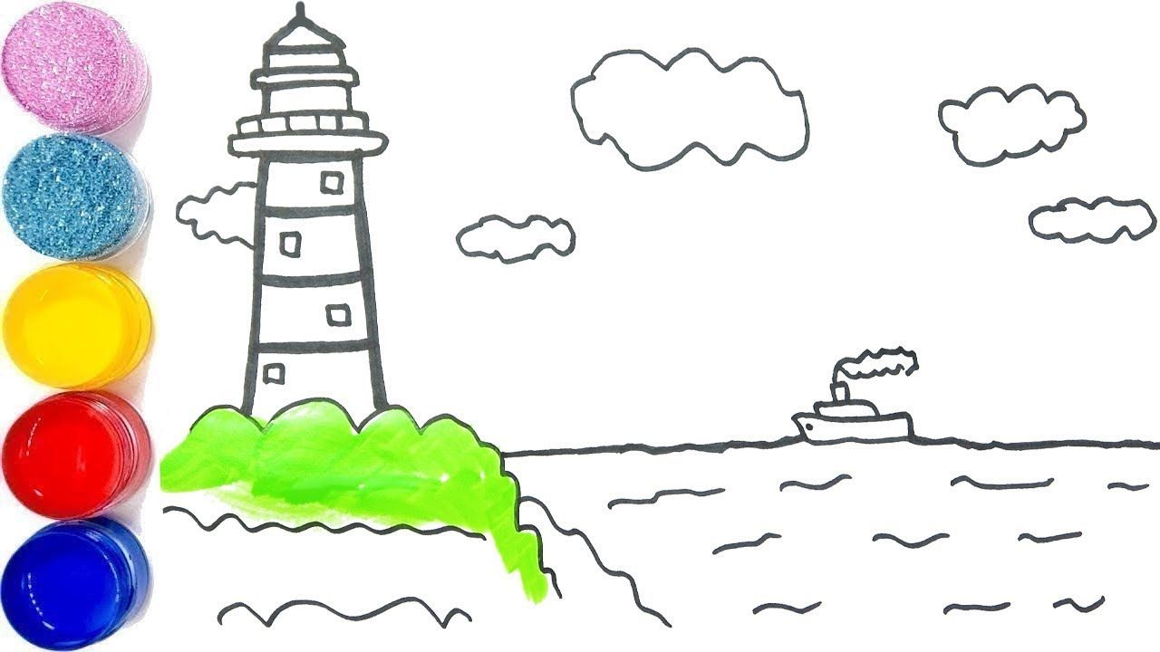 Learn To Draw And Color Lighthouse How To Draw And Color