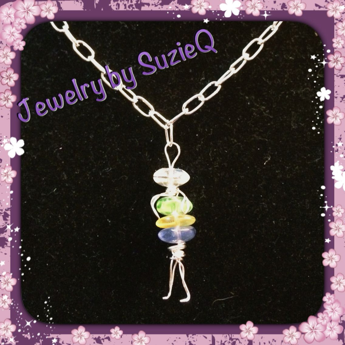 People charm necklace #charm #jewelry #jewelrybysusieq #handmade