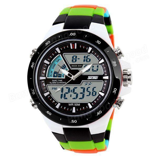 skmei ad1016 analog digital multi function waterproof men sport skmei ad1016 analog digital multi function waterproof men sport wrist watch