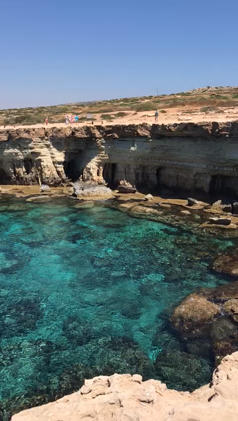 The sea caves in Cape Grekko, Ayia Napa, Cyprus are not to be missed. You can swim into the naturally formed caves and explore. Read the article to find out more about visiting and all the other best things to do in Cyprus. #travelmadmum #cyprus #ayianapa #seacaves #travel #familytravel #beach #vacation