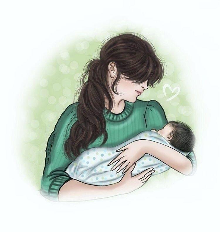 Pin By Adorable Doll On Art Illustration Cartoons Fantasy Mother Art Mom Art Mother Daughter Art