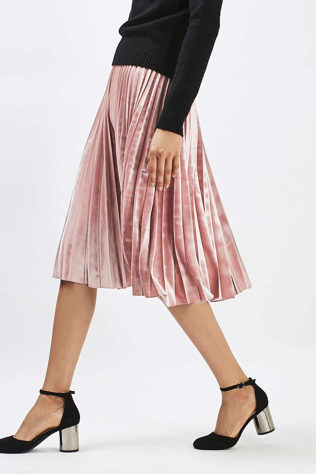 05b942c4d23f6e Carousel Image 2 Pleated Skirt Outfit, Metallic Pleated Skirt, Skirt Outfits,  Dress Skirt