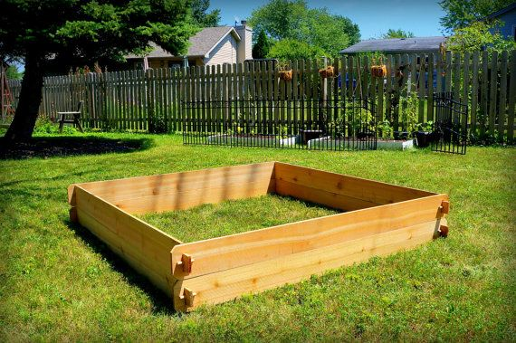 Cedar Raised Garden Bed Deep Gardening Kit (Double 6x6) Vegetable Garden  School Large Outdoor Cedar Planter Gardening Present Raised Planter