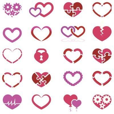 assorted small heart tattoo designs - Small Designs