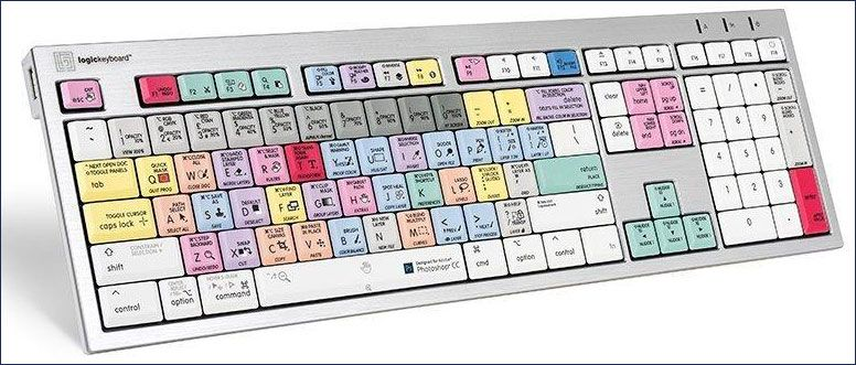 LogicKeyboard Compatible with Adobe PhotoShop CC Apple Advance Keyboard Part Number LK-LKBU-PHOTOCC-AM89