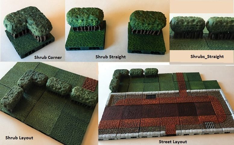Miniature Shrubbery with Openlock by melabam    Miniatures