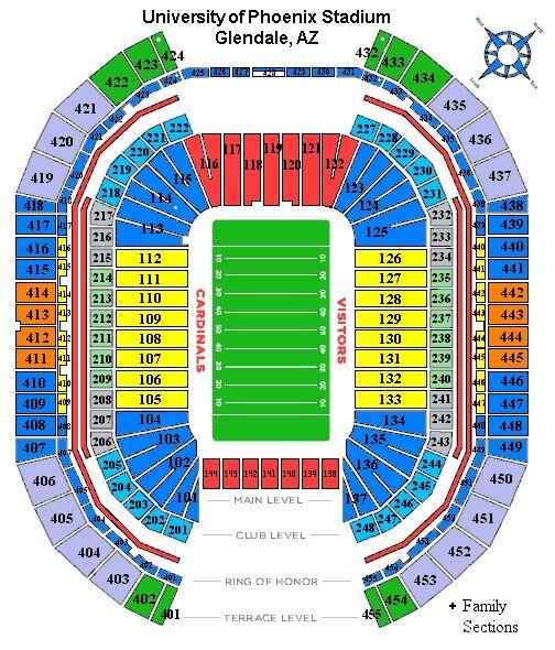 Cardinals Stadium Seating Stadium Seats Cardinals Nfl Stadium