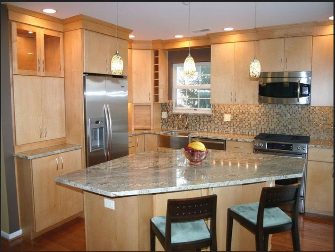interesting island at an angle in 2019 kitchen design open simple kitchen design maple on kitchen island ideas v shape id=68368
