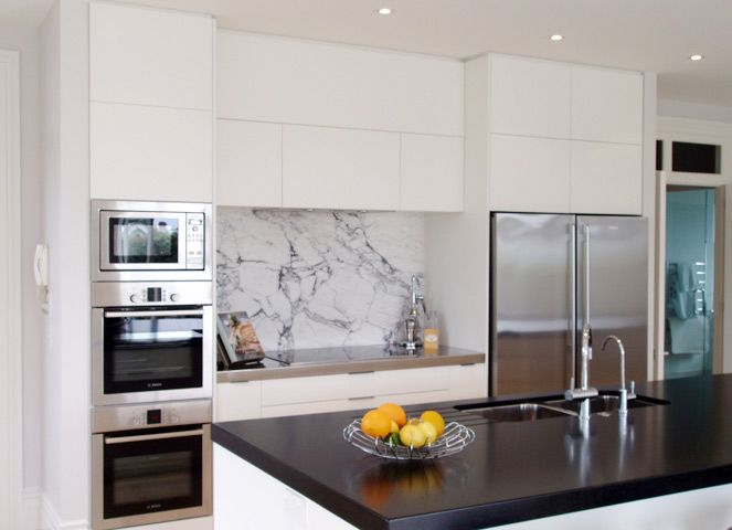 Splashback Ideas White Kitchen Part - 33: Love My Home: Kitchen Marble Splashbacks