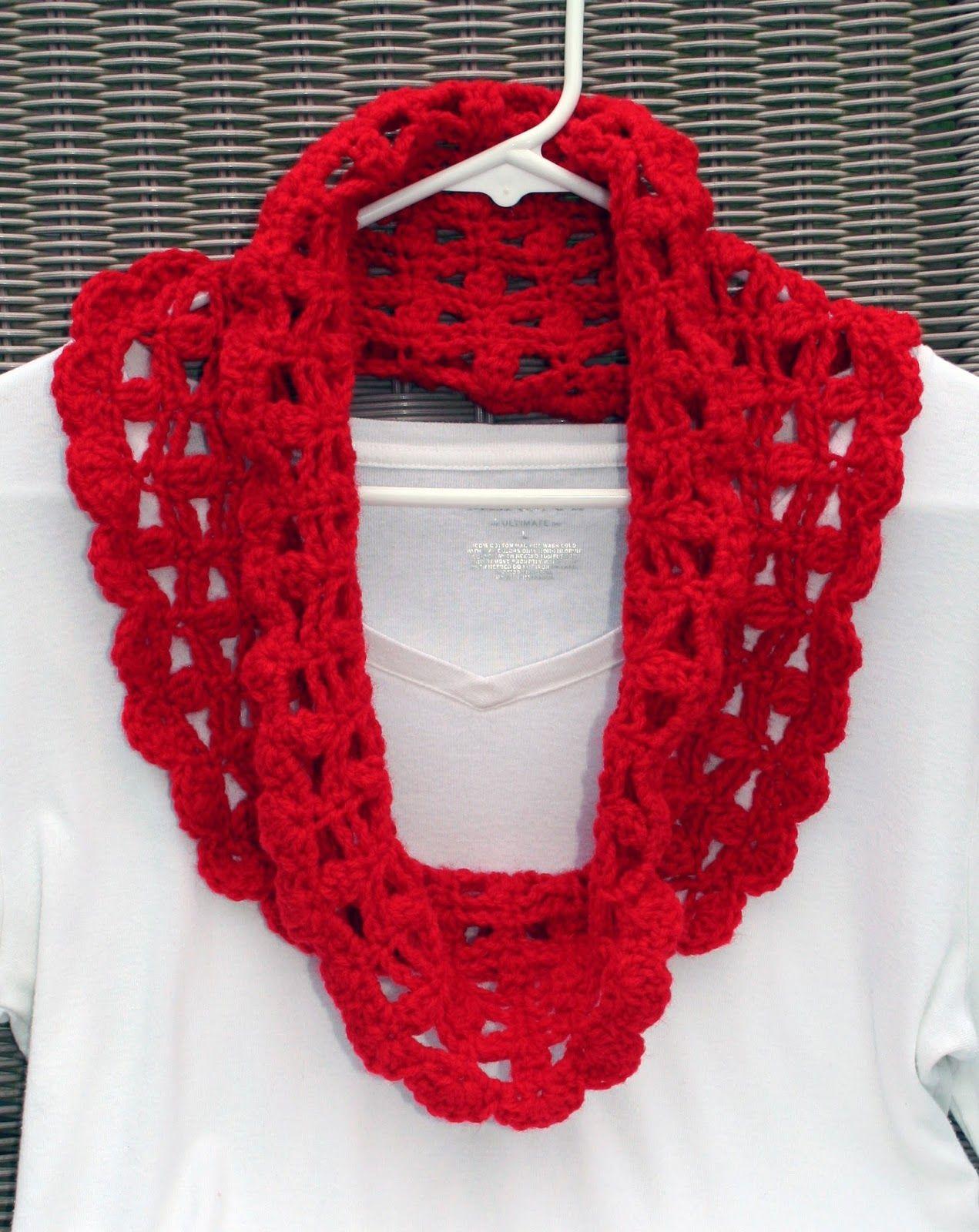 Tampa Bay Crochet: Free Crochet Pattern: Lacy Crimson Cowl, Stella ...