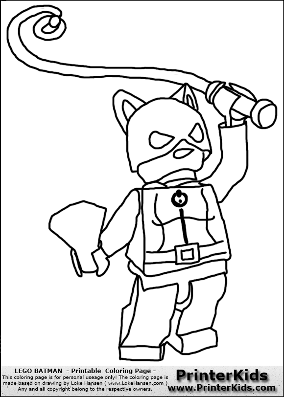color pages for batmans villians lego printerkids lego batman catwoman printable coloring page coloring page
