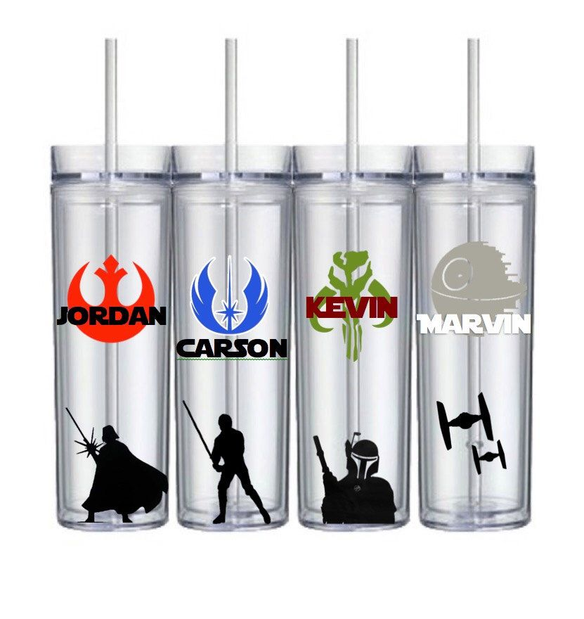 Custom Star Wars Wedding Bridesmaid Groomsmen Birthday Gifts Tumblers Free Shipping by HoneydukeDesigns on Etsy https://www.etsy.com/listing/461476945/custom-star-wars-wedding-bridesmaid