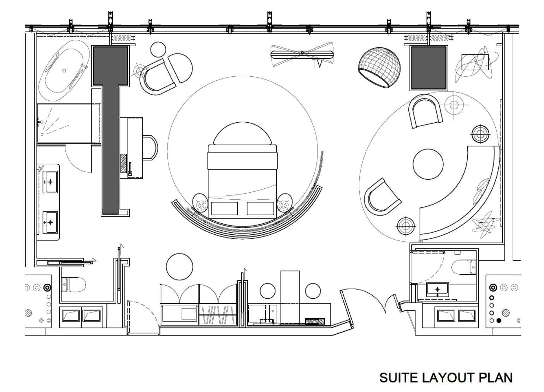 Hard Rock Hotel Shenzhen By Cl3 Architects Hotel Plan Hotel Floor Plan Hotel Room Plan