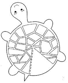 Wonderful Turtle Craft Template (site Is In Turkish Language But It Has Some Great  Coloring/craft Images)