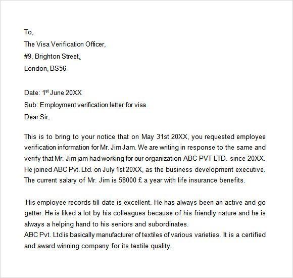 Sample Proof Employment Letter Download Free Documents Pdf Visa