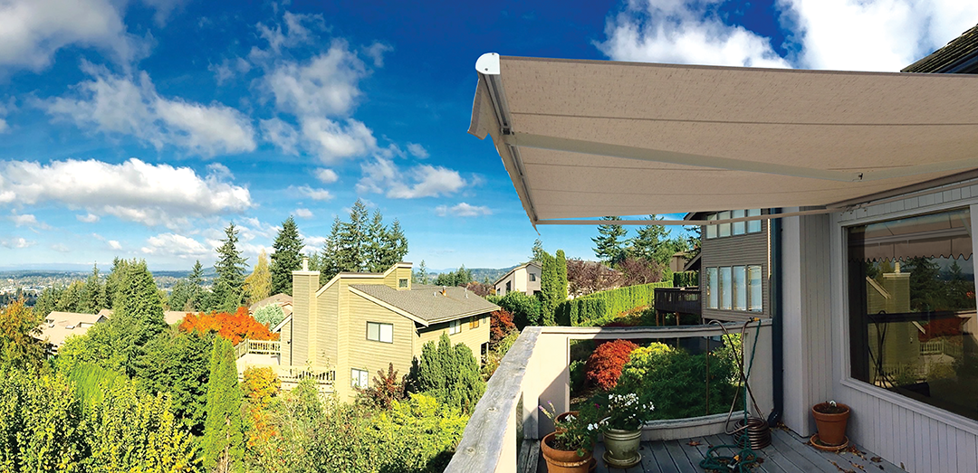 Nuimage Awning S Nushade Retractable Patio Awning Is Shown Here And
