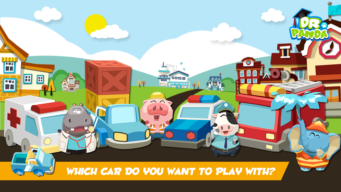 Ambulance, pick-up, police car, fire truck... which car is your favorite? Play with all sorts of cars and trucks in Dr. Panda's Toy Cars!