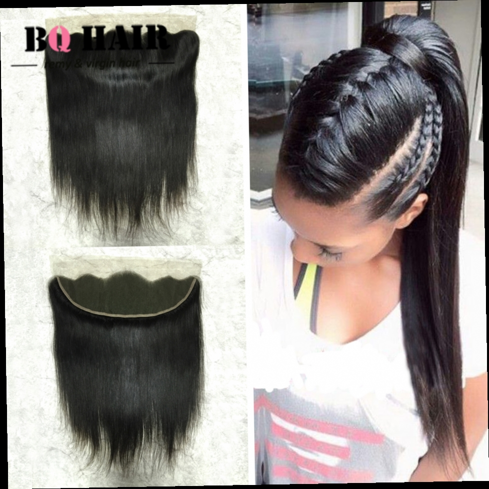 47.70$  Buy now - http://ali564.worldwells.pw/go.php?t=32789899025 - BQ HAIR 13*4 Lace Frontal Cabello Humano 8A Indian Straight Weave Pre Plucked Lace Frontal Ear to Ear Human Hair Aliexpress 47.70$