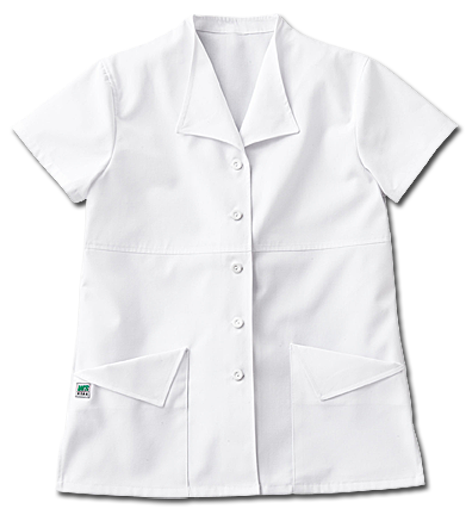 White Swan Gear Button Front Shawl Collar Scrub Top