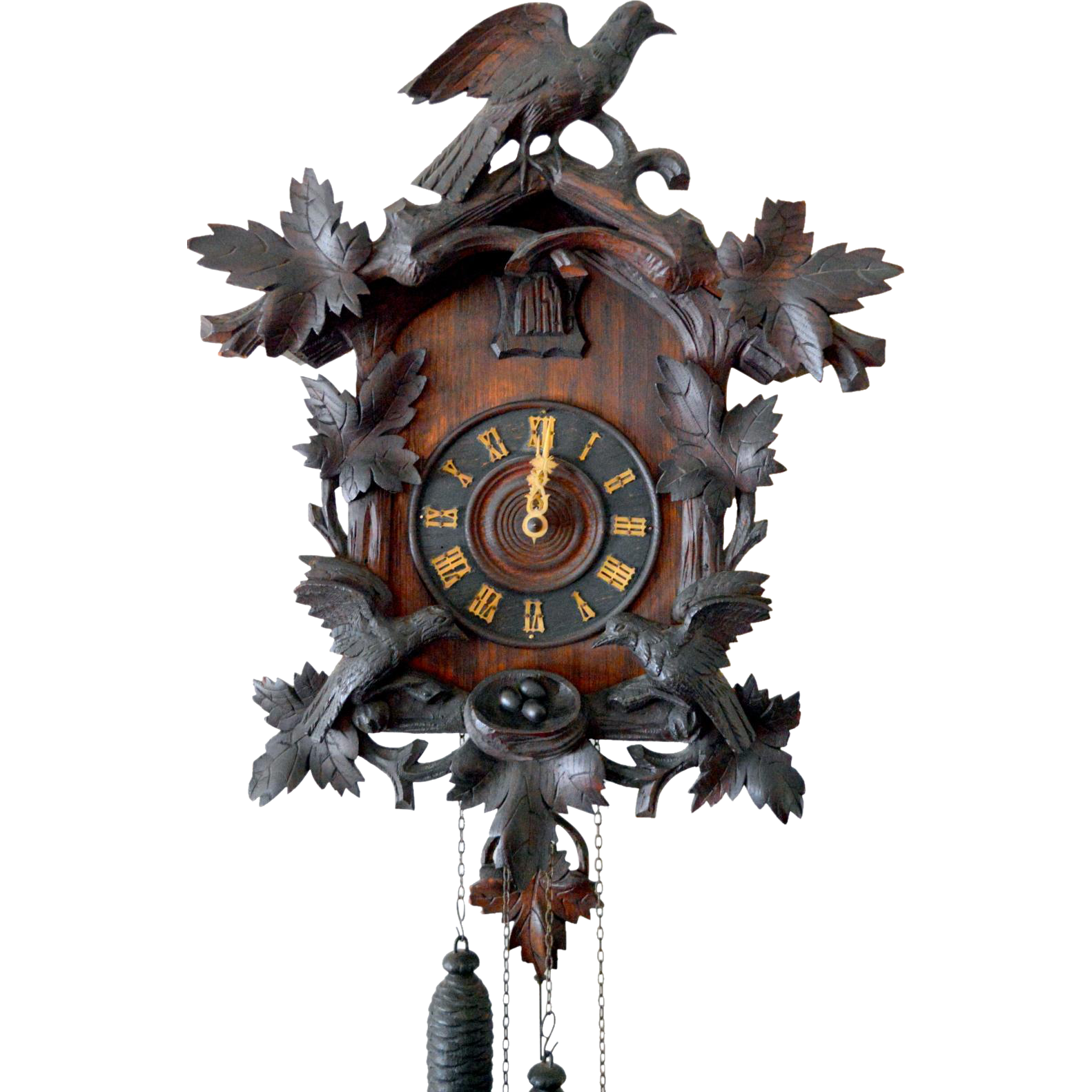 Antique Black Forest Cuckoo Clock Germany From Front Porch On Ruby Lane Cuckoo Clock Clock Cuckoo
