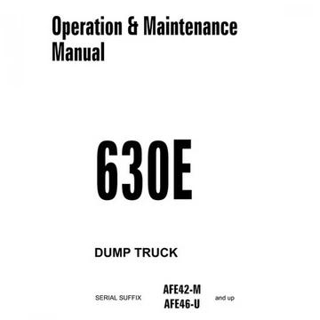 Komatsu 630E Dump Truck Operation & Maintenance Manual