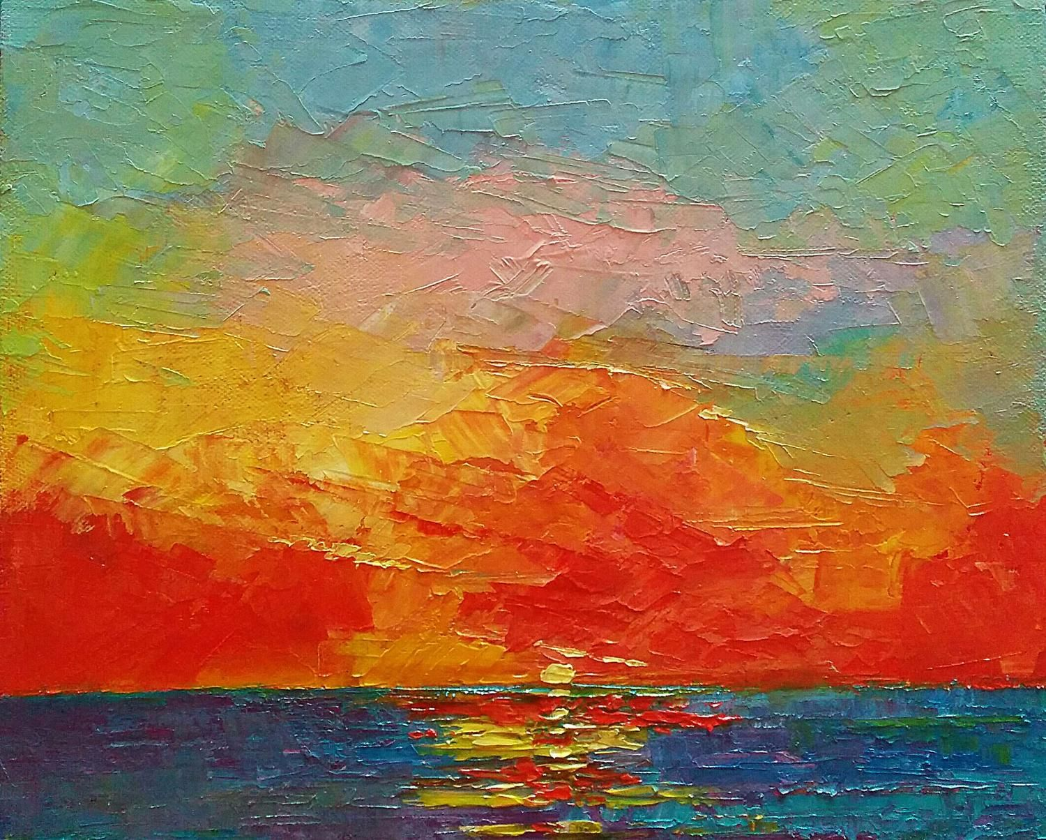 Original watercolor art for sale - View Good Bye Seascape By Padmaja Madhu Browse More Art For Sale At Great