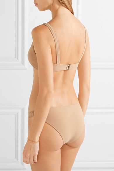 bc3ac7837c Rochelle Sara - Laeti Stretch-jersey Bikini Top - Neutral - 2 ...