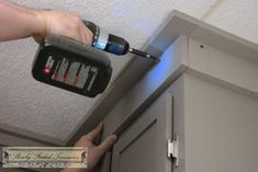 Creating Craftsman Style Crown Molding for Kitchen Remodel #craftsmanstylehomes
