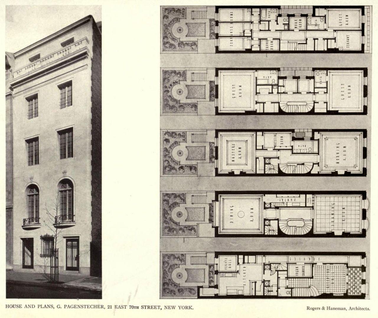 The pagenstecher residence new york city planimetrie for Planimetrie georgiane