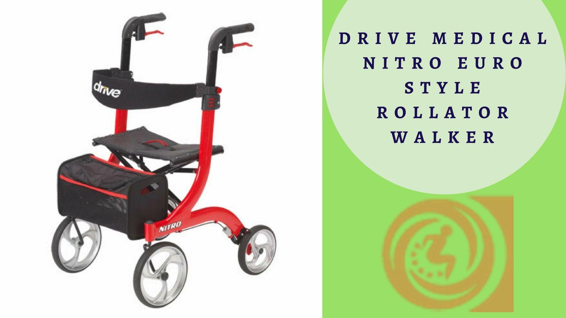 Drive Medical Nitro Euro Style Rollator Walker Euro