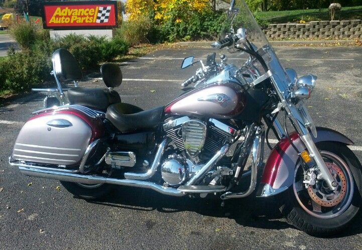 2001 Kawasaki Vulcan Nomad 1500 One Thing About Nomads That I Love That Two Tone Color Combo With Images Kawasaki Vulcan Kawasaki Vulcan 2000 Kawasaki Motorcycles