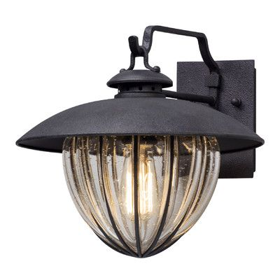 "Troy Lighting Murphy 1 Light Outdoor Wall Lantern Size: 11.25"" H x 13"" W x 13"" D"