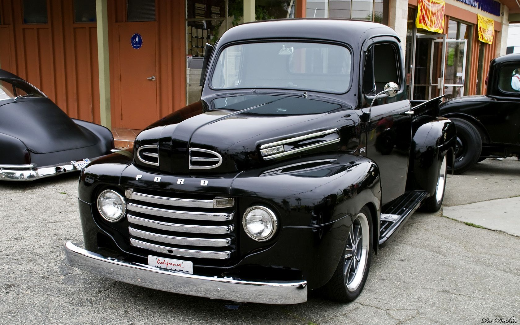 1951 ford truck 1951 ford f1 pickup black fvl. Black Bedroom Furniture Sets. Home Design Ideas