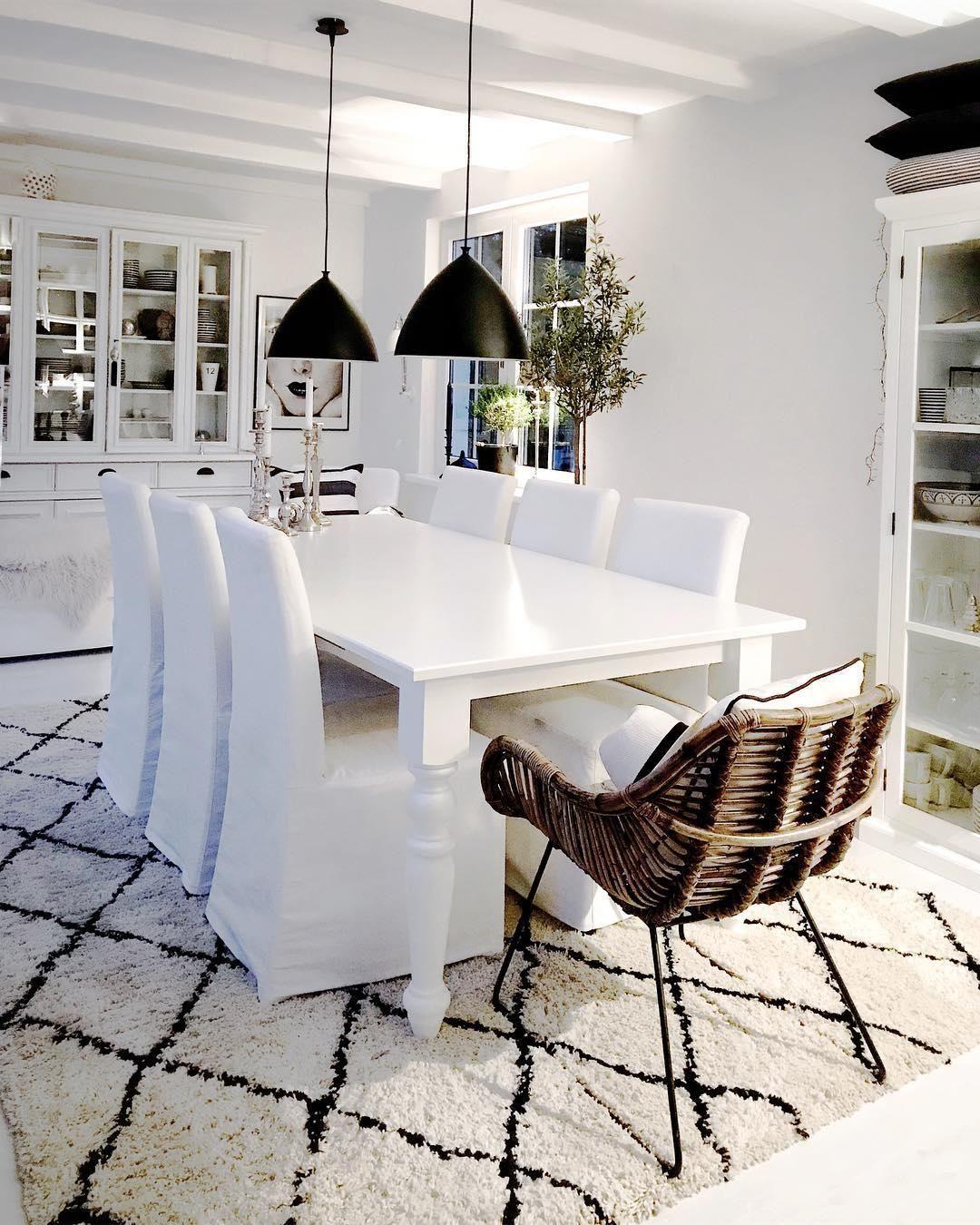 Handgetufteter Teppich Naima | Pinterest | elegantes Esszimmer ...