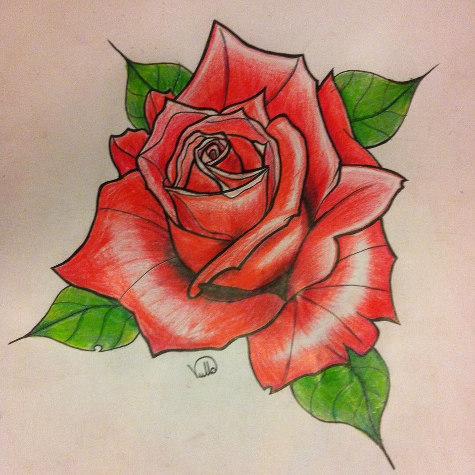 Vullo Rose Love Sketch Tattoo Art With Images Flower