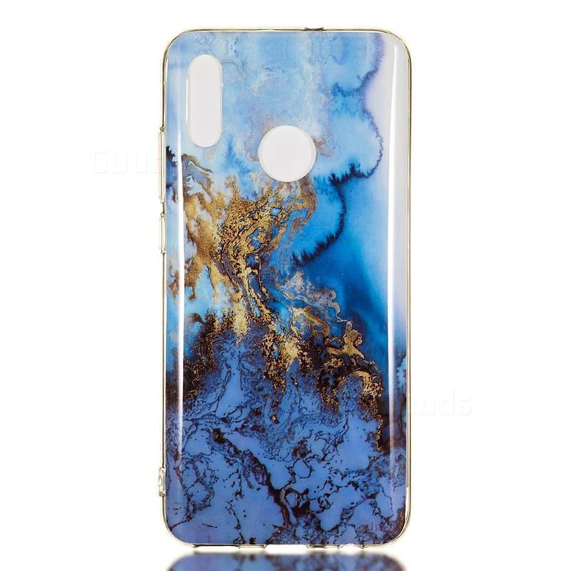 Sea Blue Soft Tpu Marble Pattern Case For Huawei Honor 10 Lite Huawei Honor 10 Lite Cases Guuds Phone Cases Marble Marble Pattern Case Cute Phone Cases
