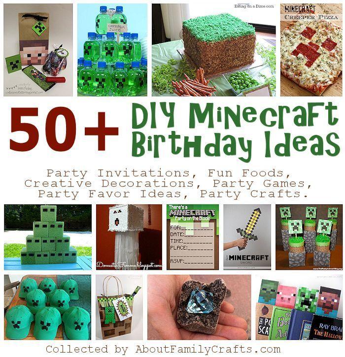 50+ DIY Minecraft Birthday Party Ideas