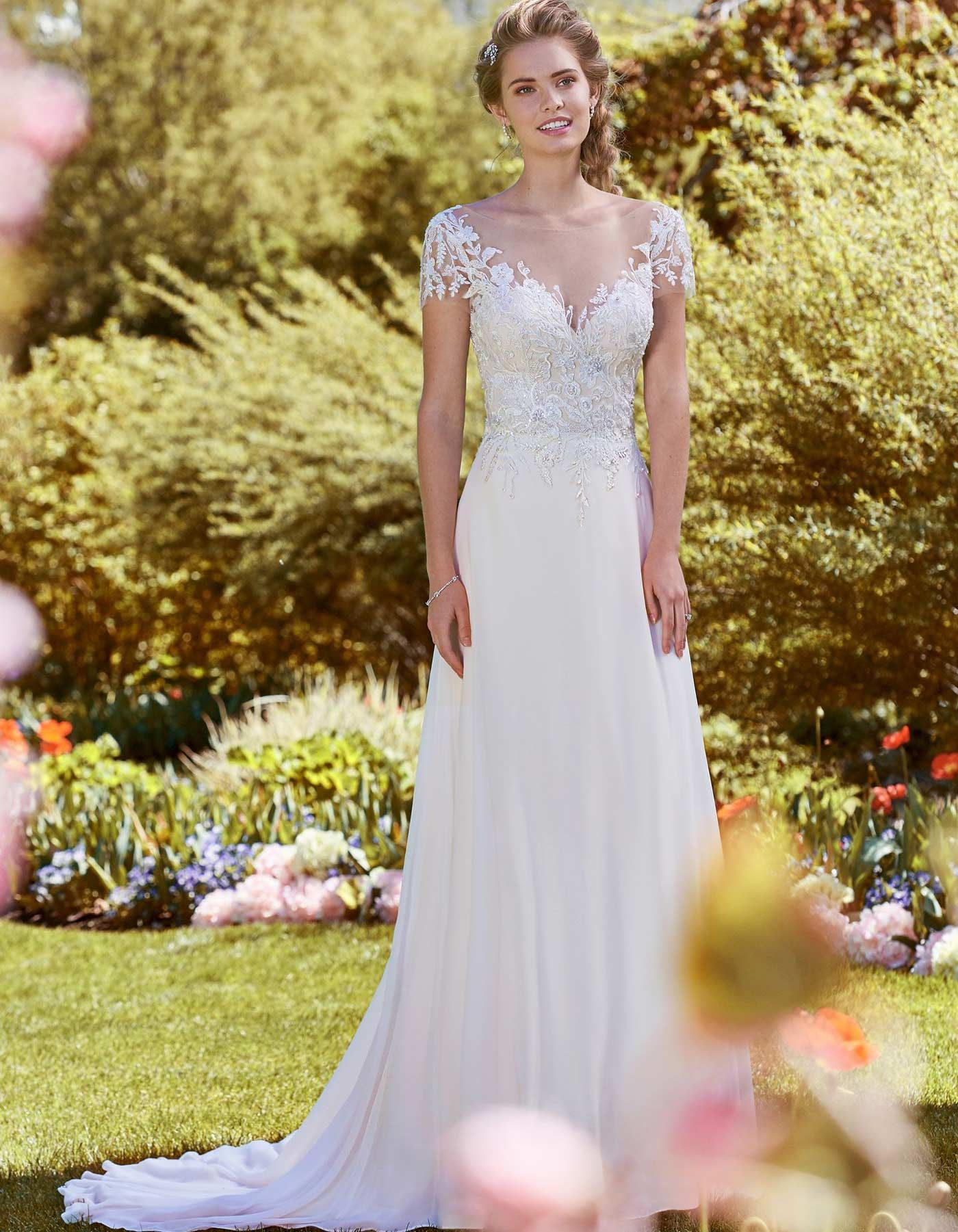 Cece wedding dress  MERCY by REBECCA INGRAM Beaded lace motifs and Swarovski crystals