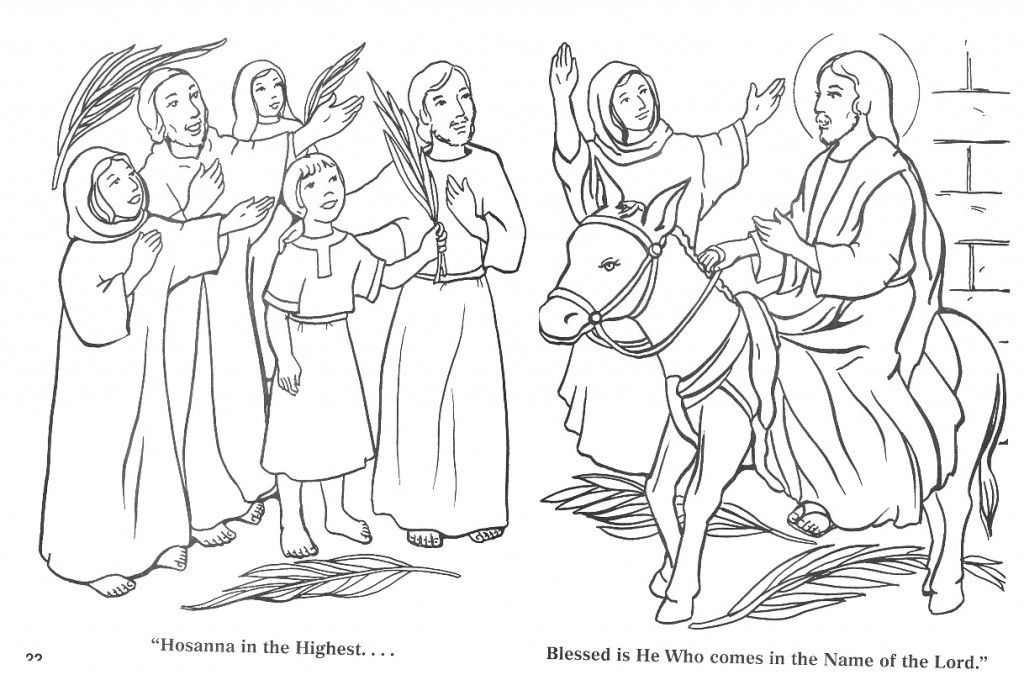 Jesus Palm Sunday Coloring Pages Horse coloring pages