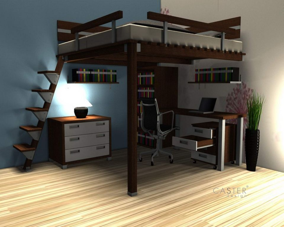 Hochbett Massiv Diy Loft Bed Boys Bedroom Furniture