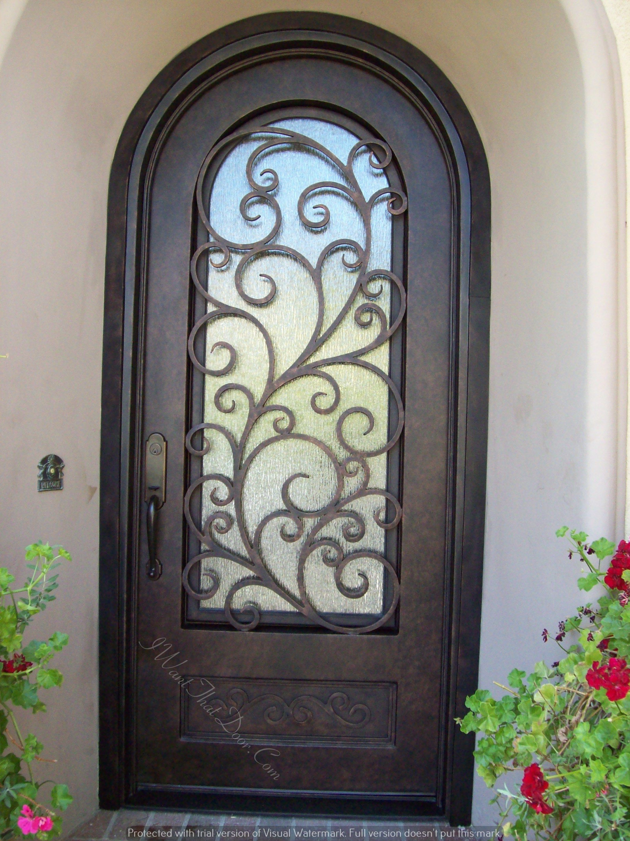 Tuscany Busy Wrought Iron Door Designed And Installed By Universal Iron Doors Call Now Wrought Iron Doors Front Entrances Iron Doors Wrought Iron Front Door