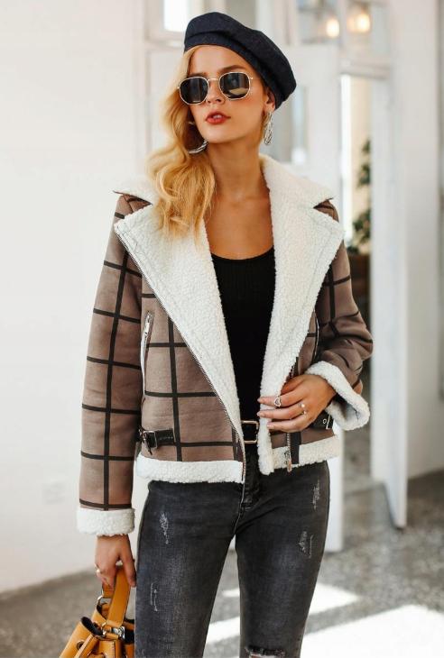 Kurtka Damska Kozuszek Simplee Jesien Zima 2018 7656134621 Oficjalne Archiwum Allegro Dress Code Casual Jackets Business Chic