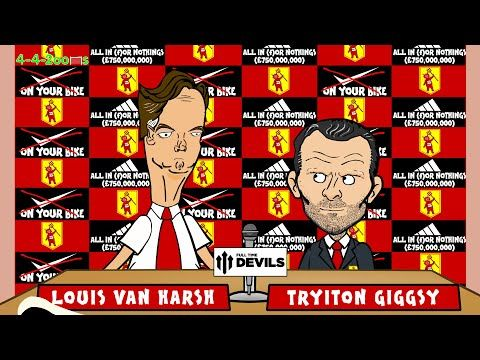 LOUIS VAN GAAL MANCHESTER UNITED PRESS CONFERENCE by 442oons for FullTimeDEVILS (football cartoon). . http://www.champions-league.today/louis-van-gaal-manchester-united-press-conference-by-442oons-for-fulltimedevils-football-cartoon/.  #LOUIS VAN GAAL MANCHESTER UNITED PRESS