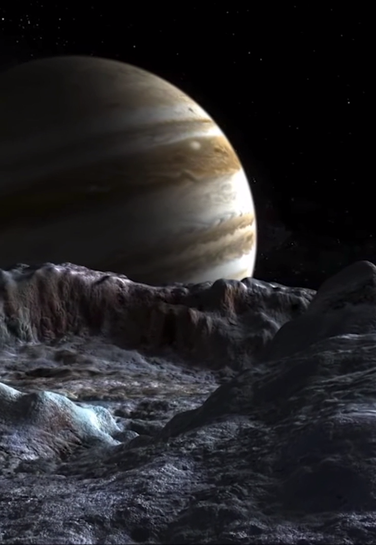Jupiter from the surface of Europa #odyssÉe