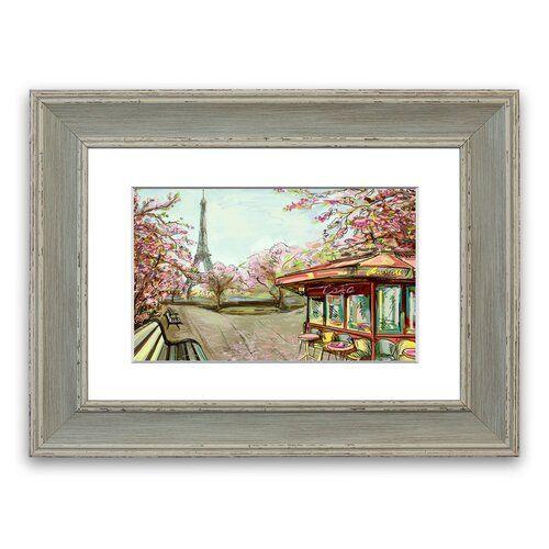Eiffelturmstraßen Cornwall' gerahmter Fotodruck East Urban Home Größe: 93 cm H x 126 cm B, Rahmenart: Grau #eiffeltower