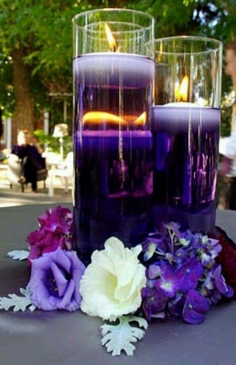 Centro de Mesa BODA Pinterest Centros de mesa, Centro y Mesas - centros de mesa para boda con velas flotantes
