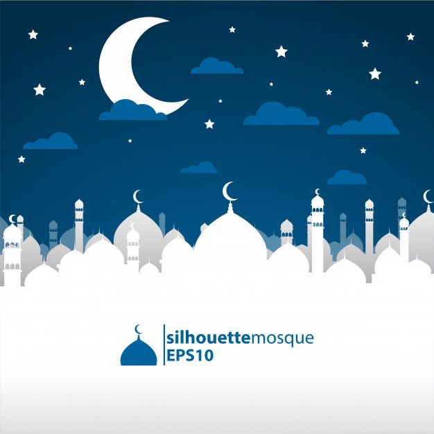 Silhouette Mosque Background