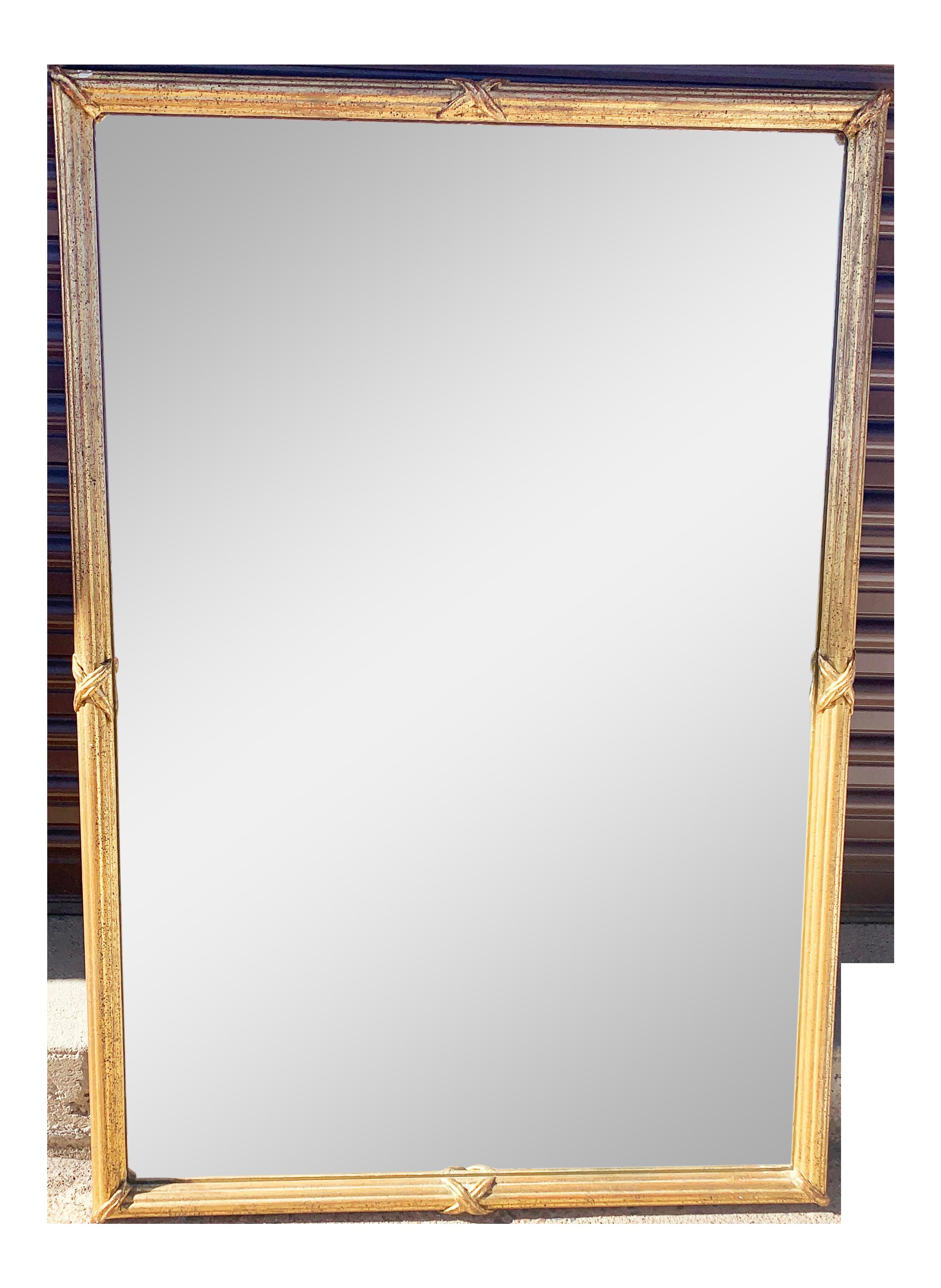 1950s Large Gold Leaf Framed Mirror Mirror Large Gold Mirror Mirror Frames
